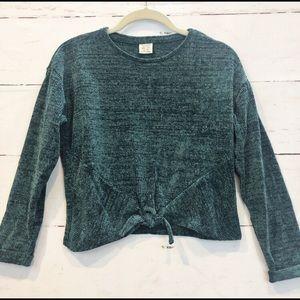 Zara Teal Bouclé Sweater